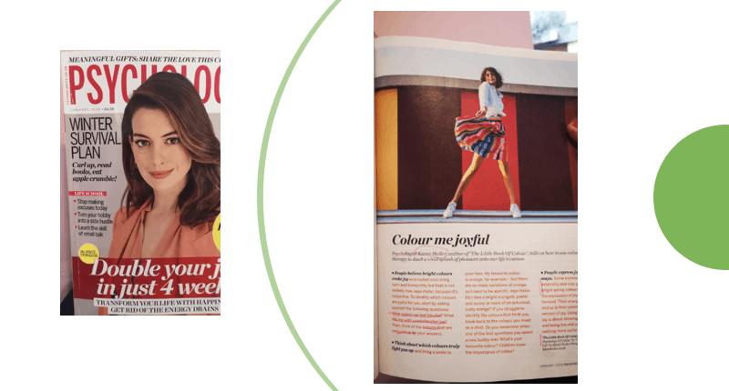 Karens Adventures In Colour For February Psychologies Magazine Jan2020 Karen Haller